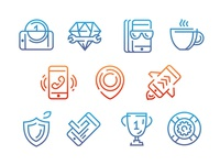 Icon set for iPhone service