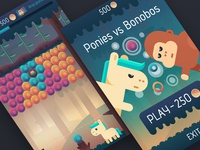 Ponies vs Bonobos game design