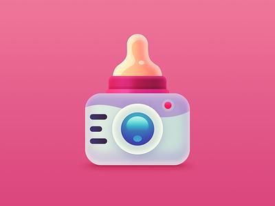 Babics iOS App Icon appstore application logo illustraion launcher photoeditor baby camera nipple ui icon app iphone ios
