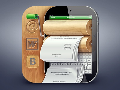 My Referats iOS icon ipad icon ios icon word wood vk mail referats abstacts paper ipad document print 3d glass