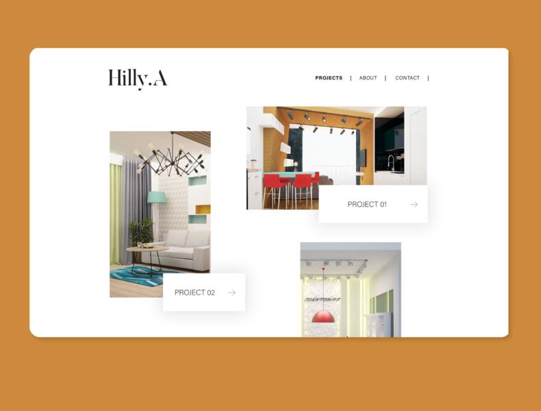 Interior designer studio - web design minimal branding ui typography ux design webdesign website web