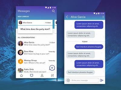 Chat App Exploration conversation messaging sms app chat