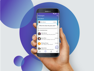 Chat App Device conversation messaging sms app chat