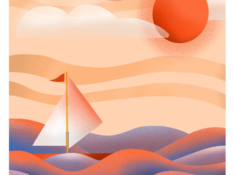 Sailboat whit sunset ⛵️ sailboat sunset art relax