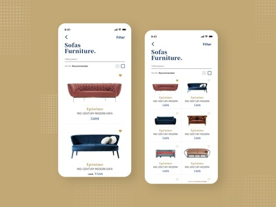 Furniture Ecommerce app