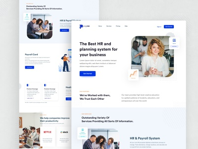 Paynas | HR & Payroll system system minimalist user interface design landing page payment web userinterface minimal clean ux design style color webdesign website uiux ui payroll hr