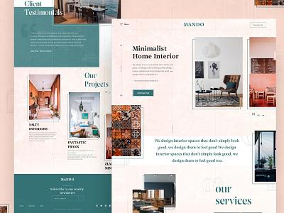 MANDO | Interior Design Agency Website logo branding web design website design user interface design style minimal clean ux agency web graphic design ui interior