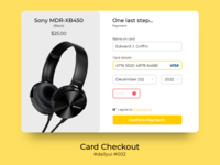 100 Days of UI Challenge - day 02 - Card Checkout