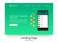 100 Days of UI Challenge - day 03 - Landing page