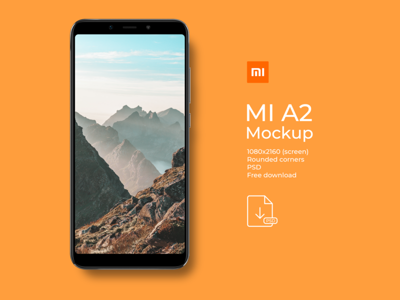 Xaiomi MI A2 Mockup - PSD - Free download giveaway psd download smart object free download psd free download mockup design mi mi a2 xaiomi mockup psd photoshop