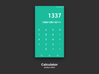 100 Days of UI Challenge - day 04 Calculator