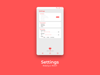 100 Days of UI Challenge - day 07 - Settings