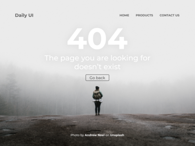 100 Days of UI Challenge - Daily UI - day 08 - 404 page