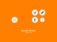 100 Days of UI Challenge - Daily UI - day 10 - Social Share