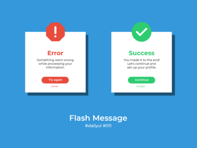 100 Days of UI Challenge - Daily UI - day 11 - Flash Message