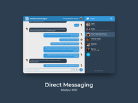 100 Days of UI Challenge - Daily UI - day 13 - Direct Messaging