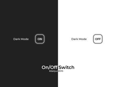100 Days of UI Challenge - Daily UI - day 15 - On/Off Switch
