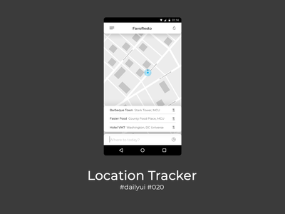 100 Days of UI Challenge - Daily UI - day 20 - Location Tracker