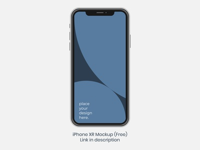 Apple iPhone XR - PSD - Free download