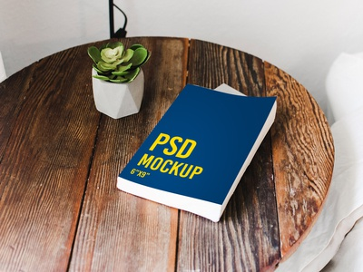 Book on a table - Freebie - PSD