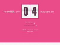 Dribbble invites 04 counter