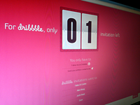 x1 Dribbble Invite