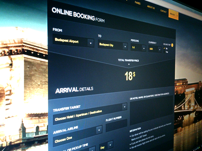 ABT - Booking Form booking form airport transfer taxi