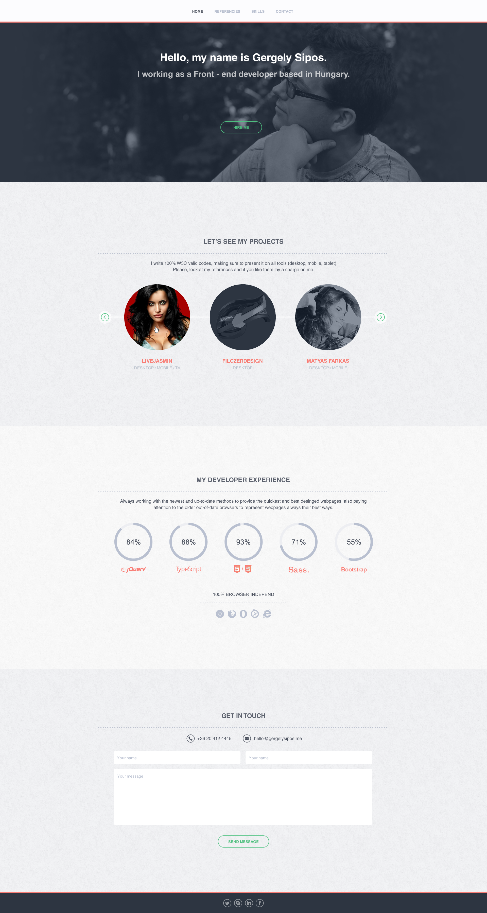 Gergely sipos onepage