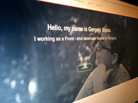 Gergely Sipos - Onepage