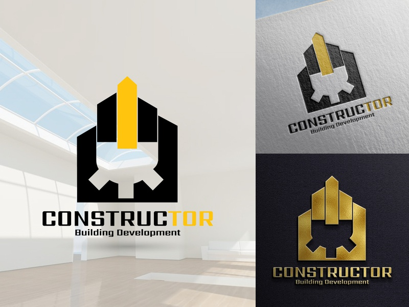 Constructor architecture construction building home logo design real estate realestate branding icon logo