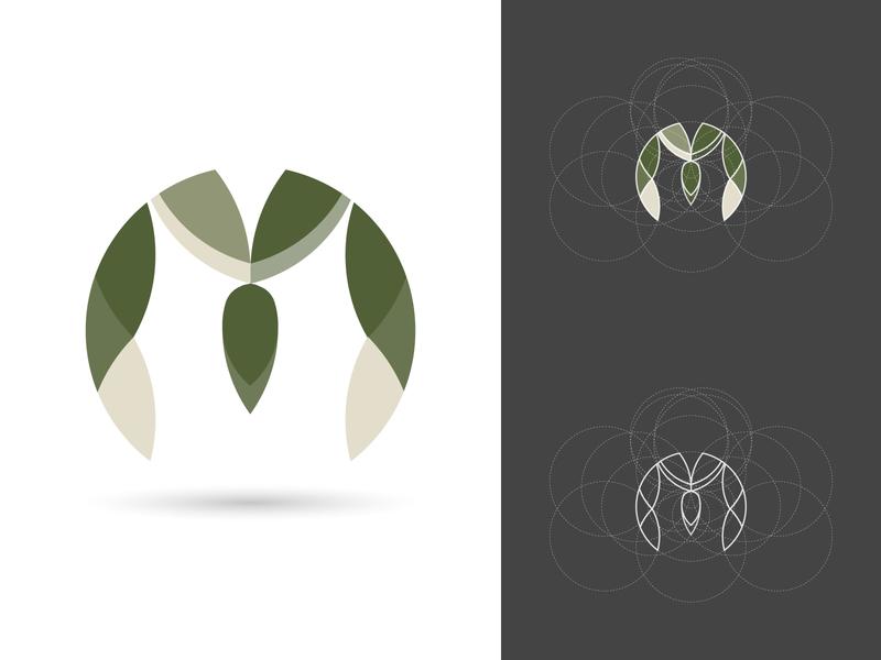 MOODern logo idea logo process modern design letter logos branding minimal m logo golden ratio icon logo