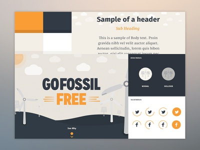 Divestment Styletile design web ui illustration vector style tile typography clean digital icon environment buttons