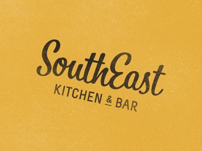 SouthEast raw restaurant fusion logo typography vector kitchen bar grunge branding logo design