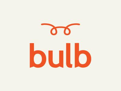 Bulb Logo (Unsuccessful Direction) logo vector icon typography bulb filament friendly modern branding