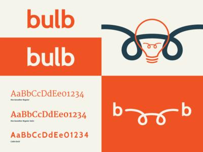 Bulb Brand Board Section brand logo icon bulb modern friendly board typography innovative