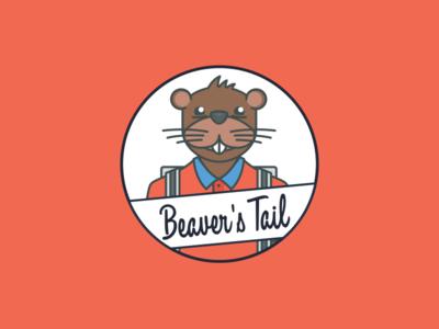 Beaver's Tail Logo Alternative flat friendly school beaver design typography illustration brand logo vector