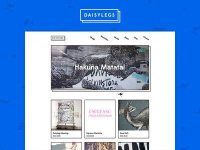 Daisylegs Website brand typography illustration mural ui website portfolio