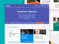 Treatment Options Page | Navigate  design web nav bar ux ui cards articles
