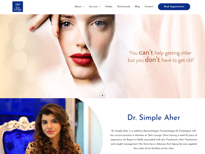 Skin Care and Treatment Website by Kazi Solutions beauty website skin care design wordpress website design wordpress website design web development landing page design landing page homepage elementor theme builder elementor