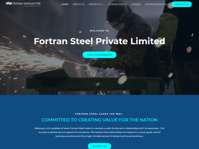Fortran Steel Co. Designed by Kazi Solutions. logo ux ui branding industrial design steel photoshop design wordpress website design wordpress website design web development landing page design landing page homepage elementor theme builder elementor