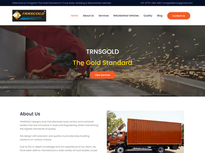 Containers Designers and Manufacturing Co. Website wordpress photoshop landing page design website design web development wordpress website design landing page homepage elementor theme builder elementor