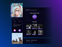 """For the challenge """"Daily UI"""". N 006 """"User profile"""""""