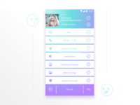 """For the challenge """"Daily UI"""". N 007 """"Settings"""""""