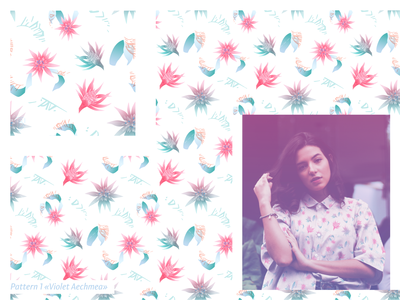 "Pattern ""Violet Aechmea"""