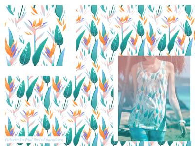 Pattern «Wild Bird of paradise»