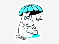 Angry Moomintroll