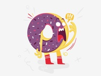 Donut sticker emoji