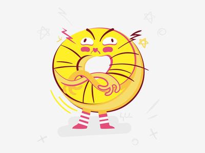 Donut sticker emoji
