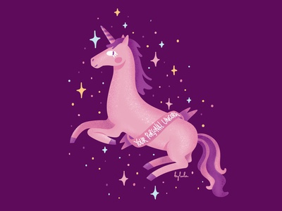 Unicorn illustration magic unicorn cartoon ai vector graphic design sticker stickers иллюстрация illustration