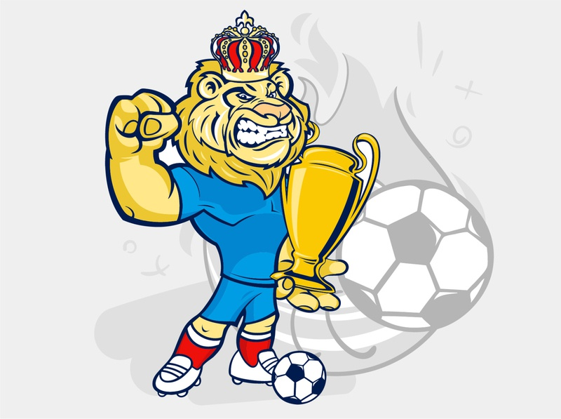 Lion Telegram Sticker football illustration soccer sports illustration uefa football lion telegram emoji cartoon ai vector design stickers sticker иллюстрация illustration
